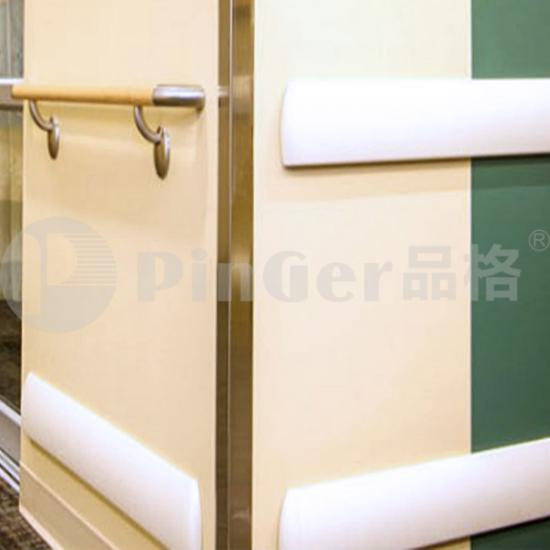 aluminium and vinyl wall guard